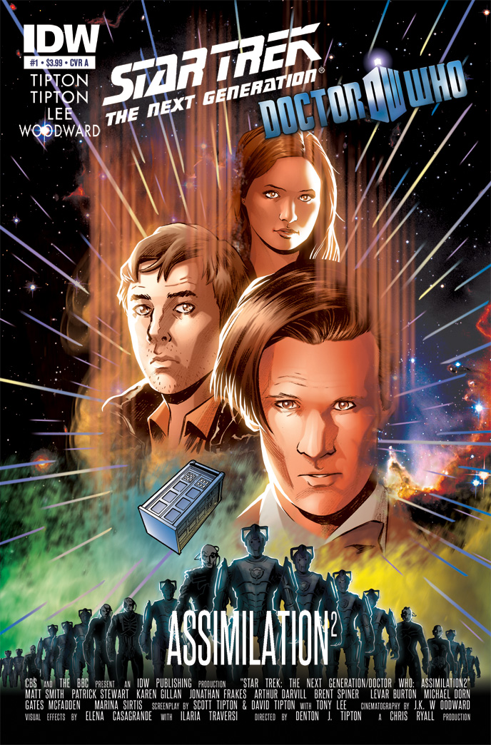 Star Trek/Doctor Who - Assimilation3 Variant Cover by elena-casagrande
