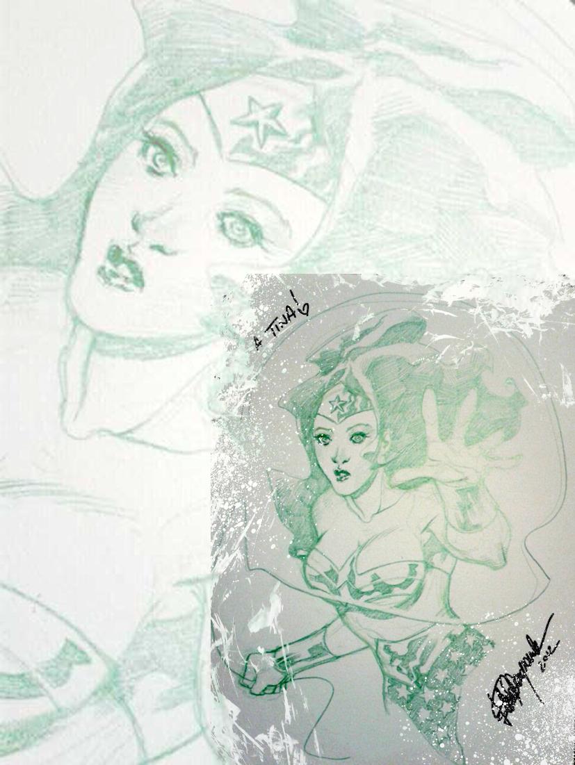 Wonder Woman sketch by elena-casagrande