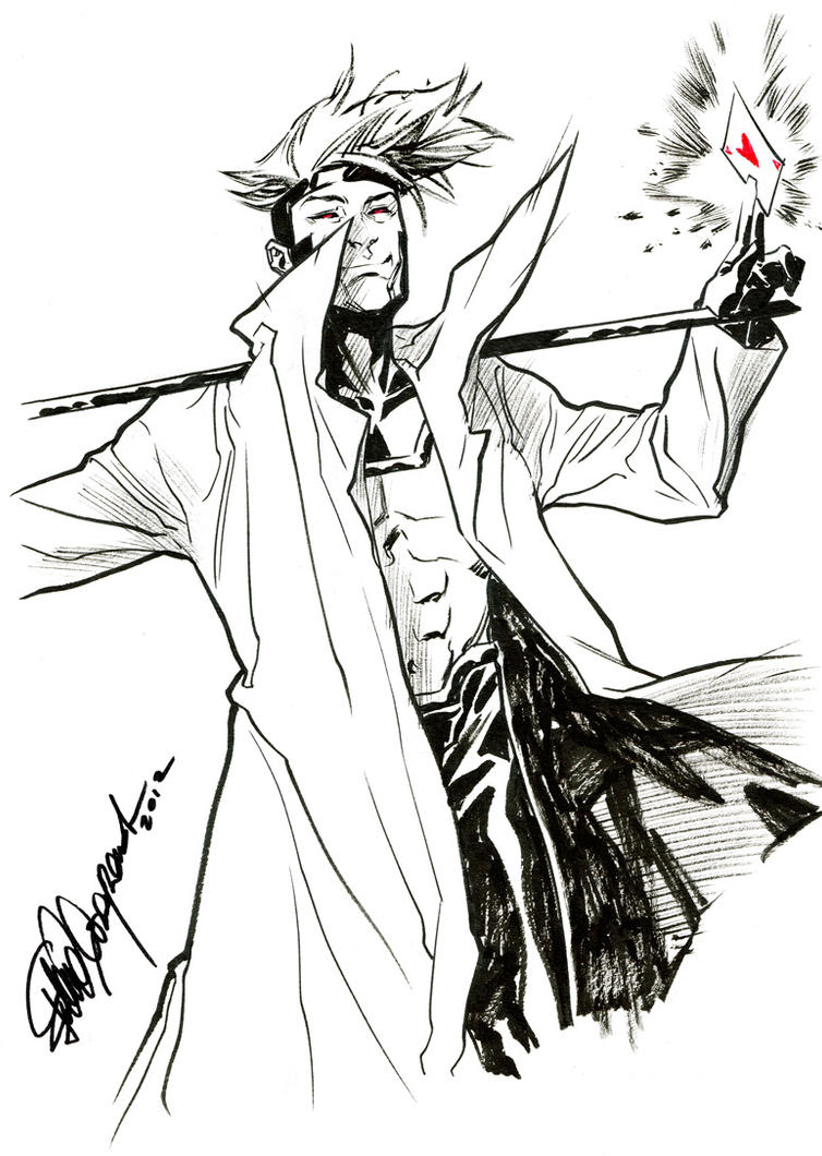 Gambit sketch by elena-casagrande