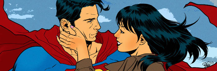 Superman banner for Blastoff Comics