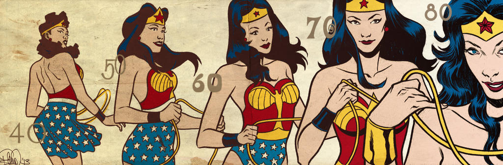 Wonder Woman banner for Blastoff Comics by elena-casagrande