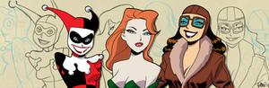 Gotham Girls banner for Blastoff Comics