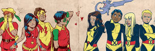 Kid Heroes for Blastoff Comics by elena-casagrande
