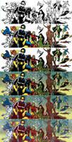 Marvel Cosmic for Blastoff Comics WIP by elena-casagrande