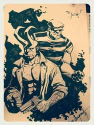 Hellboy Goon sketch by elena-casagrande