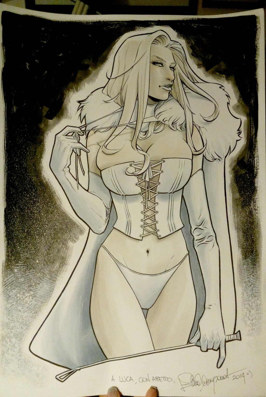 Emma Frost commission by elena-casagrande