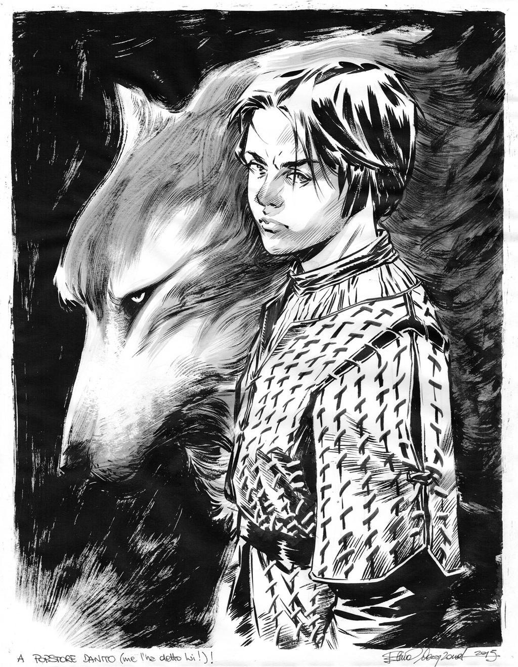 Arya Stark commission by elena-casagrande