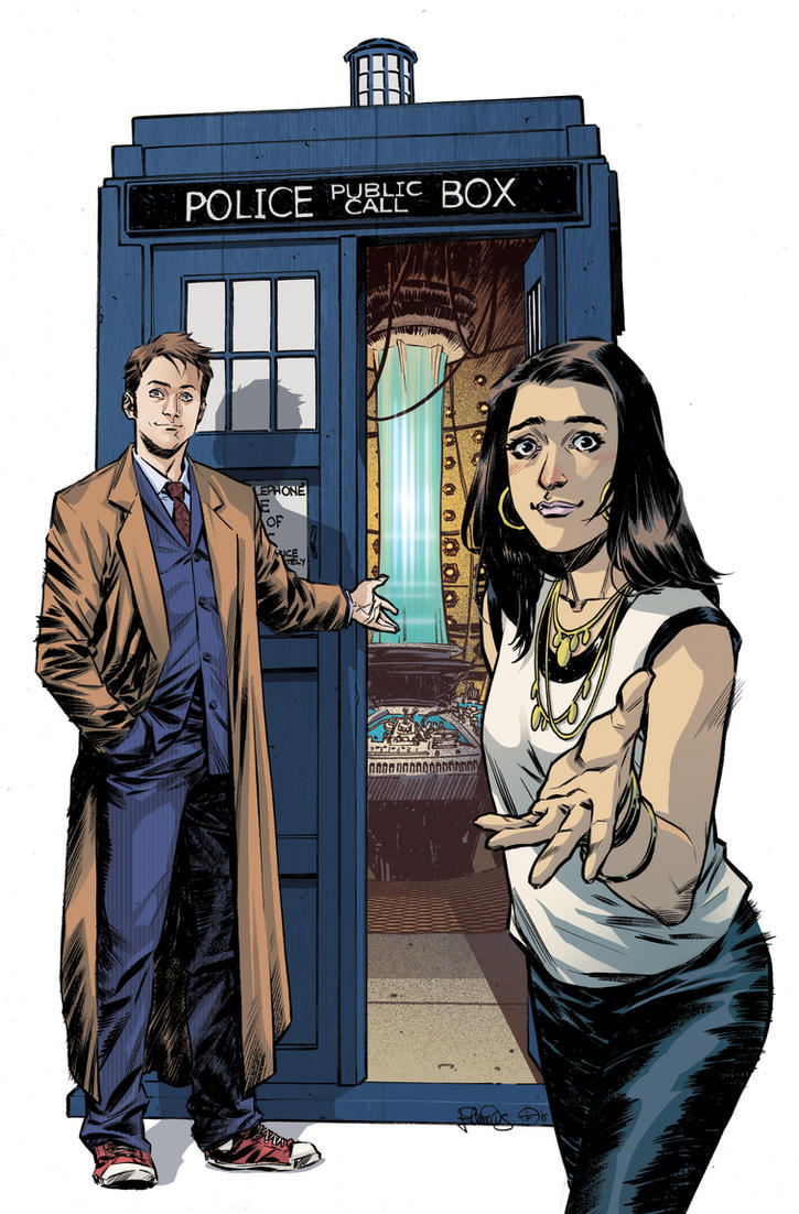 The Tenth Doctor 15 - cover by elena-casagrande