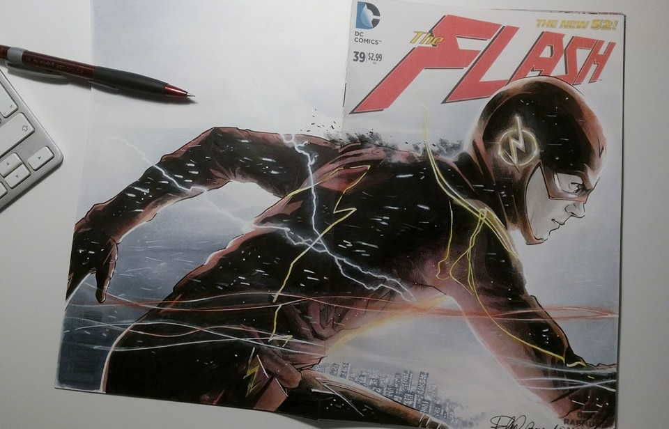 The Flash blank cover by elena-casagrande