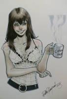 MJ copic sketch by elena-casagrande
