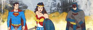 DC Heroes banner for Blastoff Comics
