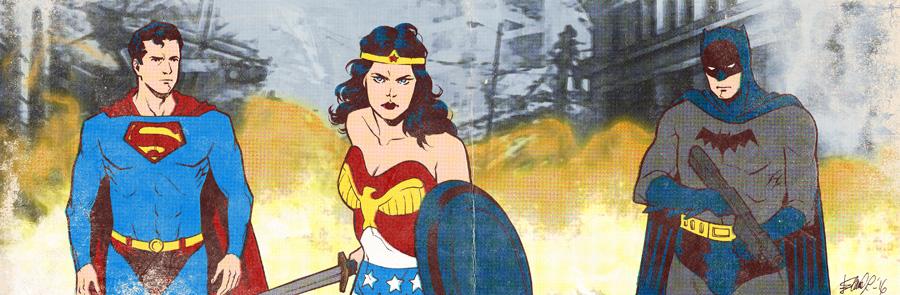 DC Heroes banner for Blastoff Comics by elena-casagrande