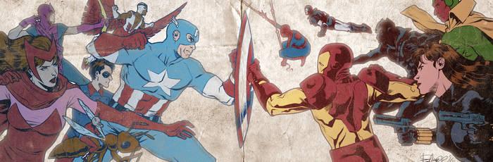 Civil War banner for Blastoff Comics
