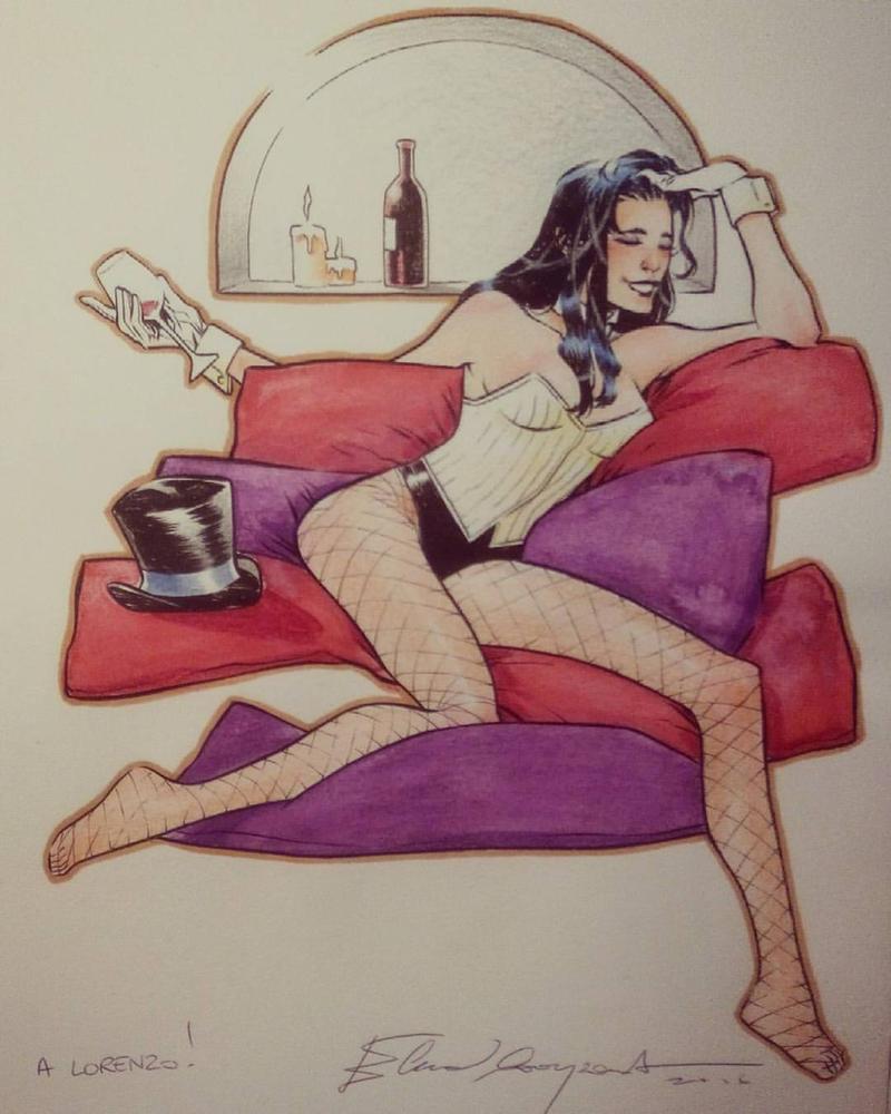 Drunk Zatanna by elena-casagrande