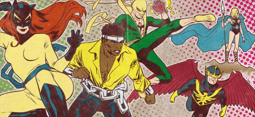 Bronze Age Defenders banner for Blastoff Comics