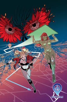 Unused cover for HarleyQuinn and PoisonIvy series