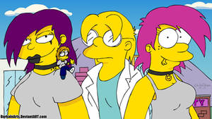 Giantess FantaSize Girls In The Simpsons Style by DarkainArts