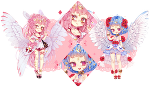 Adoptable Auction|pink and blue shojo| CLOSED