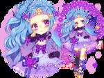 Adoptable Auction|kawaii purple fairy|CLOSED