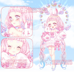 Adoptable Auction| Kawaii celestial bunny | CLOSED