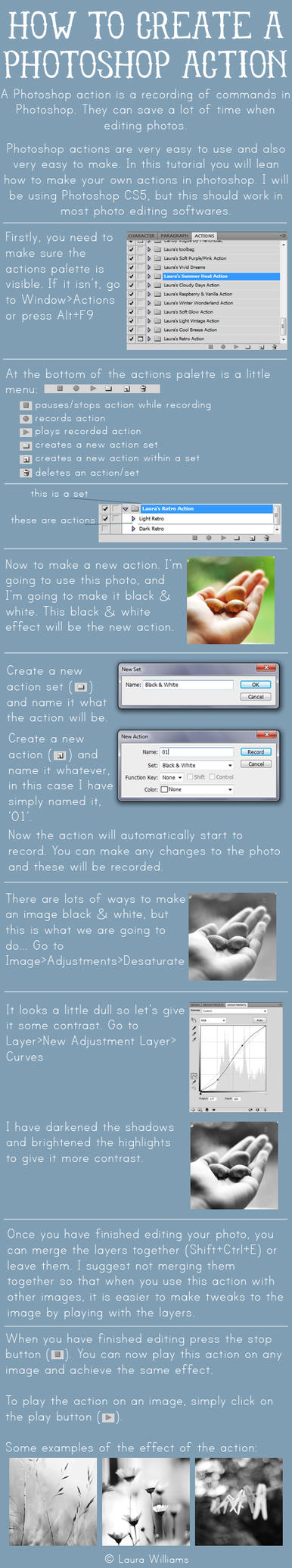 Making a PS action tutorial by Laura1995