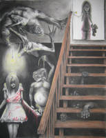 Basement Horrors by KennethFontanoArt