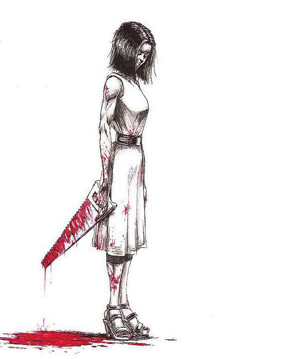 Handsaw Girl by KennethFontanoArt
