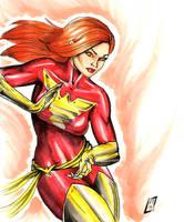 X-men-Jean Grey by KennethFontanoArt