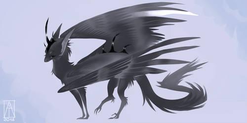 Crow dragon - OTA close by Aliashiro