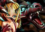 2 Mouths dragon girl
