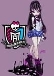 Monster High oc Shadowna Dark School Uniform