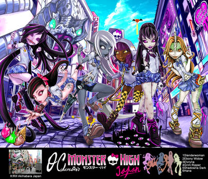 Monster High oc Akihabara  japan School Uniform by skyshek