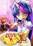 mlp Twilight Human maid and Pinkie Pie Omurice