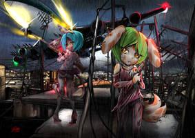 Hong Kong  mafia (Ladida and Baracuda) by skyshek