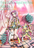 Magical mlp Fluttershy Human and pony by skyshek