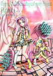Magical mlp Fluttershy Human and pony