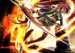 Fiery Dragon Gunscythe (hikkari)