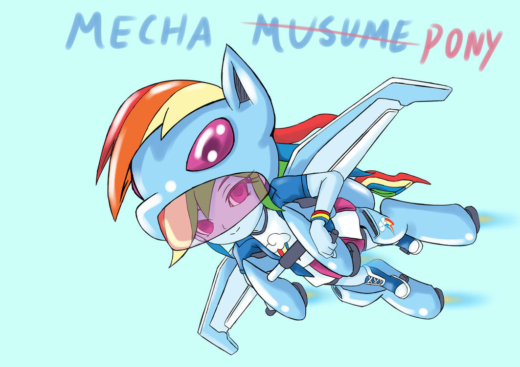 RainbowDash mecha musume(DesignTest) by skyshek