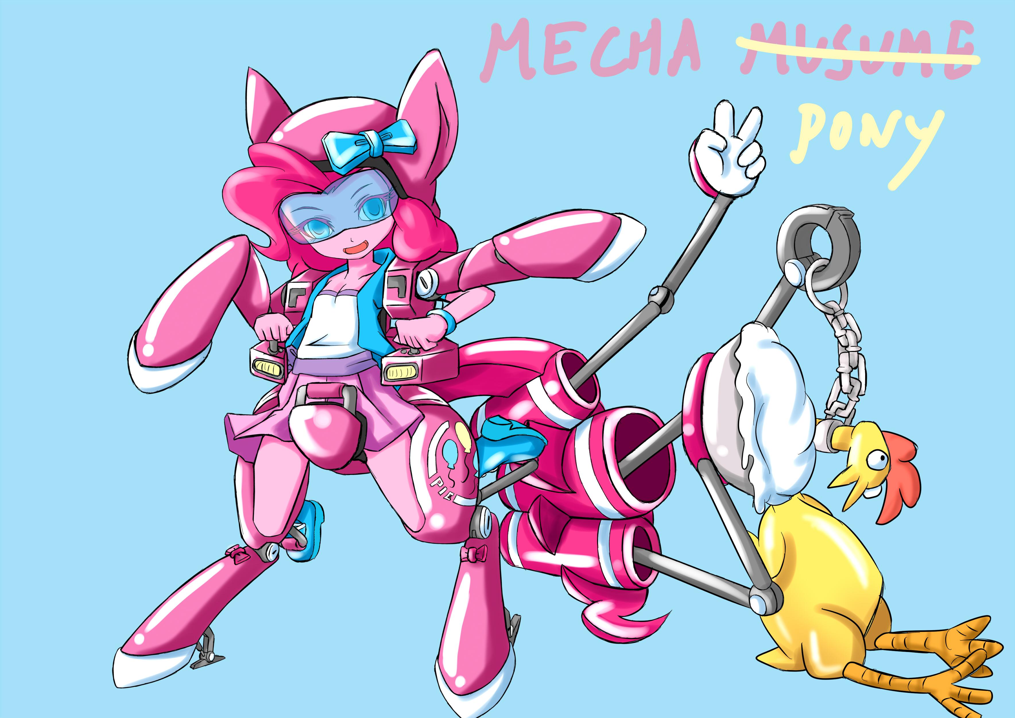 Pinkie Pie mecha musume(DesignTest2) by skyshek