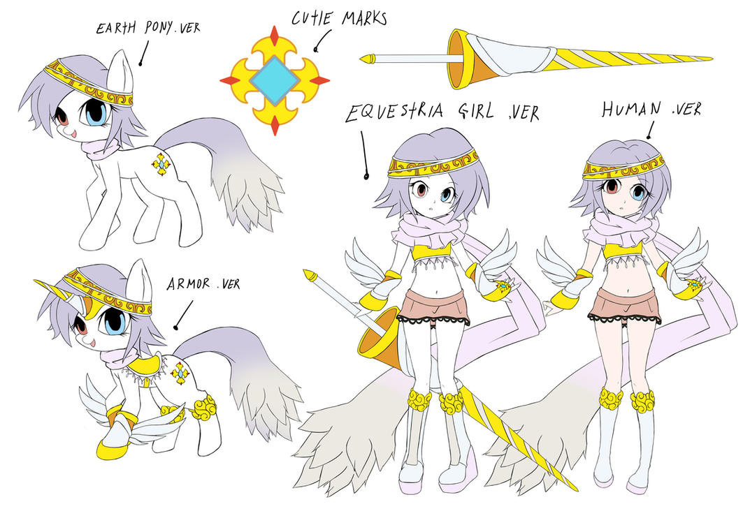 mlp oc Arwa pony+equestria girls(DesignTest) by skyshek