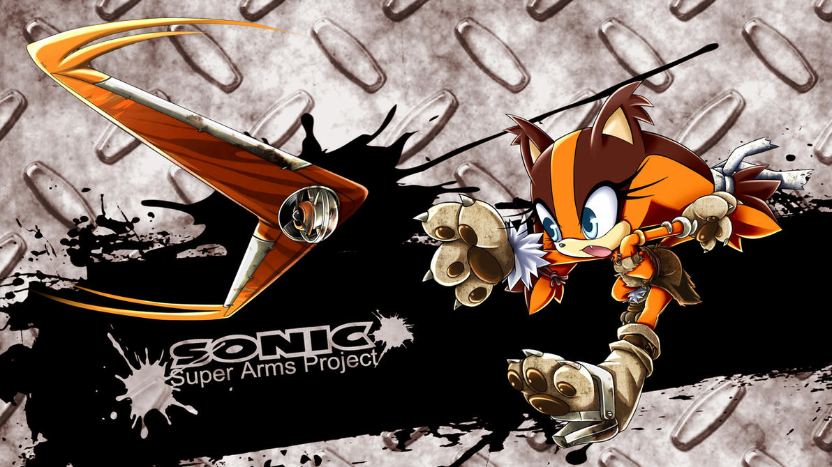 sonicsuperarmsproject sticks the badger by skyshek on