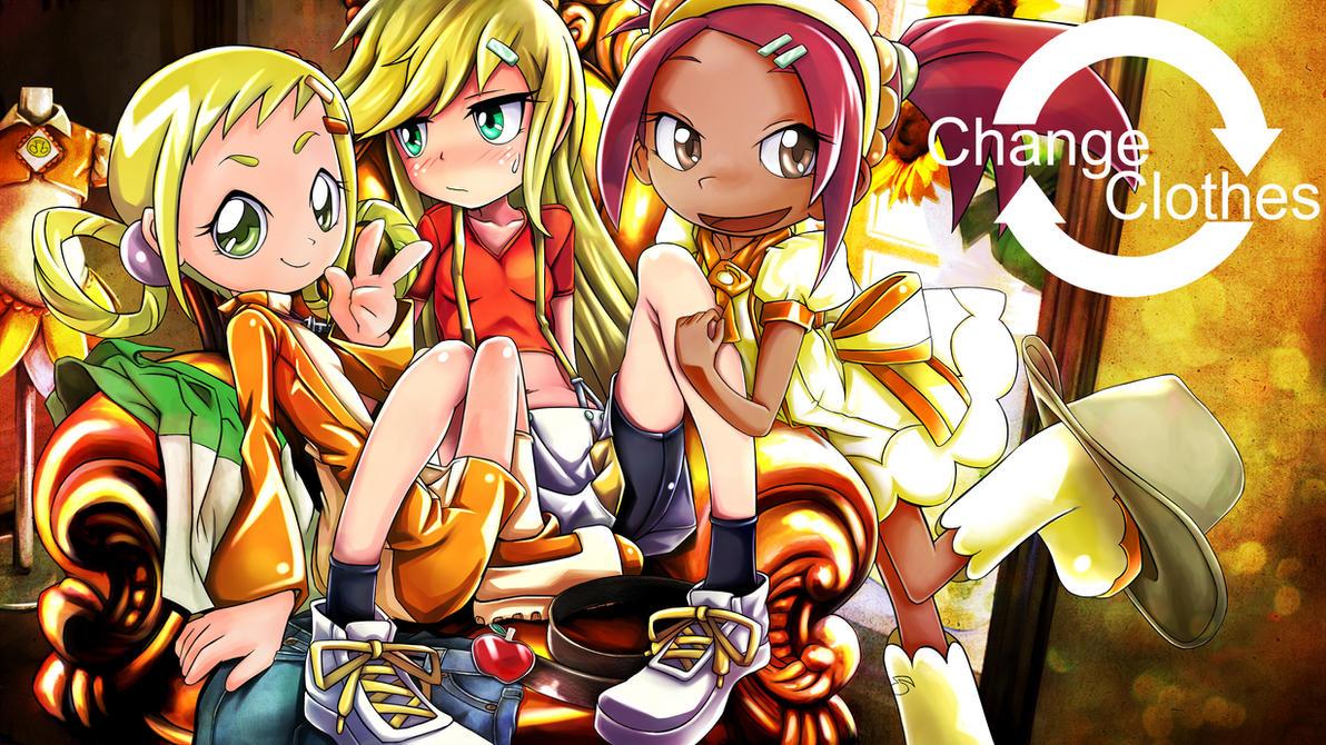 mlp Sunshine girls change clothes by skyshek