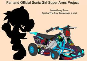 SonicSuperArmsProject  Sasha The Fox Moto(DesignTe by skyshek