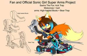 SonicSuperArmsProject  Sasha The Fox(DesignTest) by skyshek
