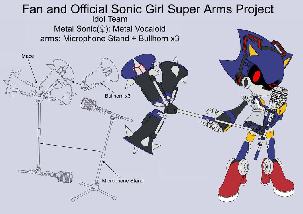 SonicSuperArmsProject Metal Sonic(DesignTest) by skyshek