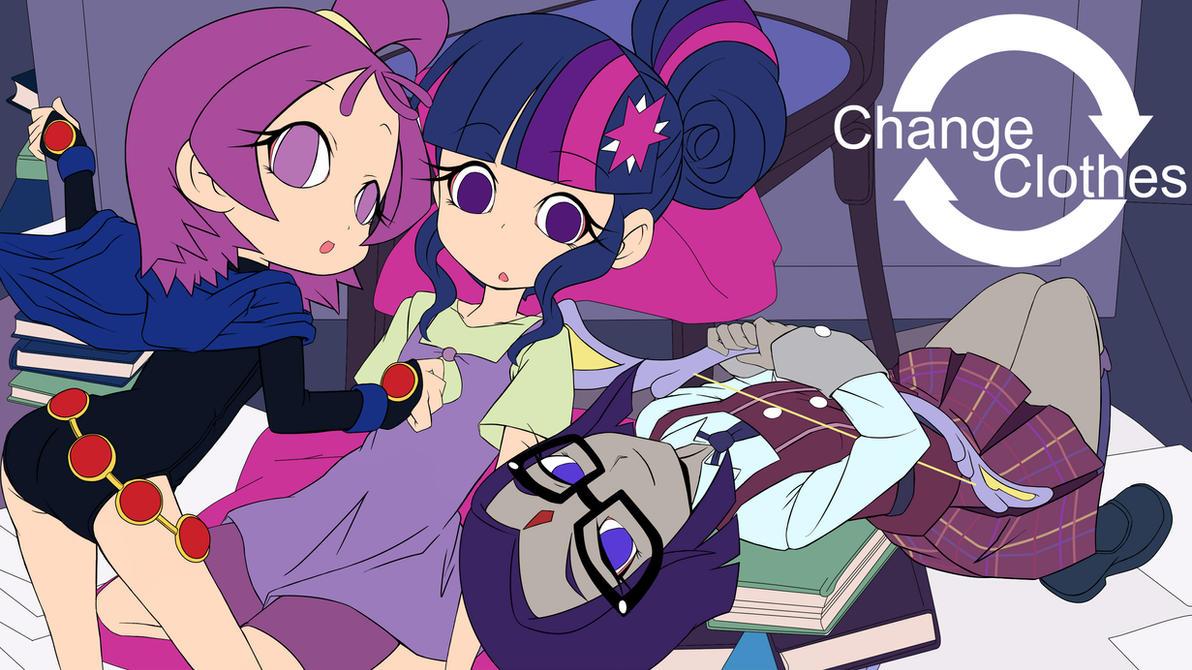 mlp clever girls change clothes(DesignTest) by skyshek