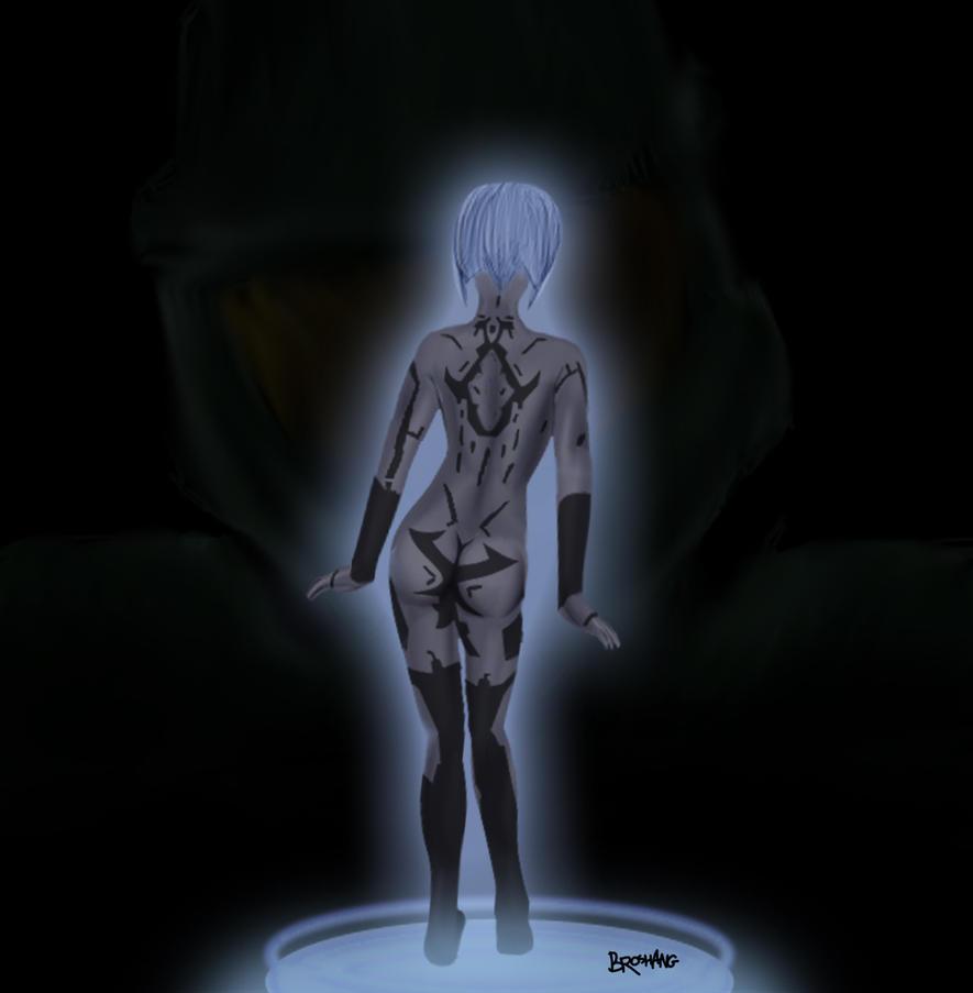 MC and Cortana by Broshang