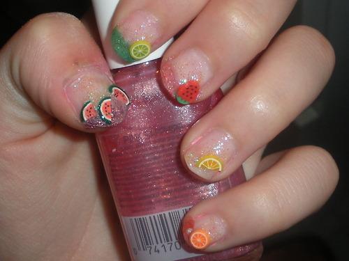 Fimo Fruit Slice Nail Art By Shufflebunnie On Deviantart