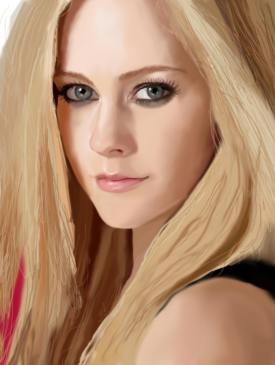 digital painting of Avril unfinished by Zombieyue
