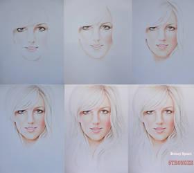 Britney Spears  WIP by Zombieyue